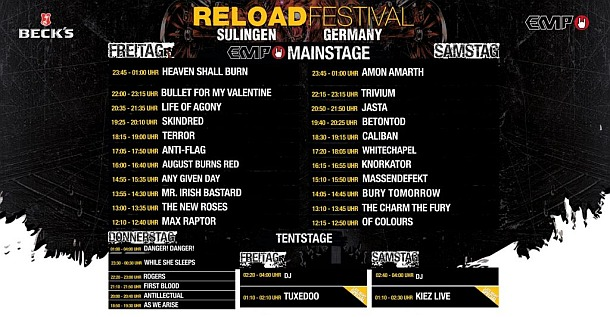 RELOAD 2017 - Timetable / LineUp